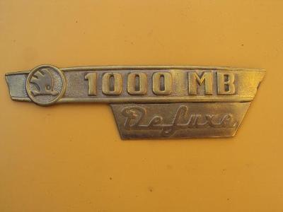 Škoda 1000MB  DELUXE znak zadni kapoty    original
