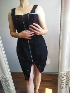 Korzetové šaty Marithe Francois Girbaud Top Stav vel M PC 495 EUR