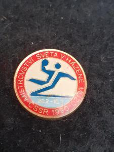 Odznak MISTROVSTVÍ SVĚTA V HÁZENÉ MUŽŮ ČSSR 1990
