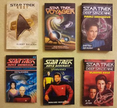 6x STAR TREK knihy