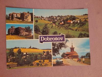 Pohlednice Dobrošov,neprošlé poštou