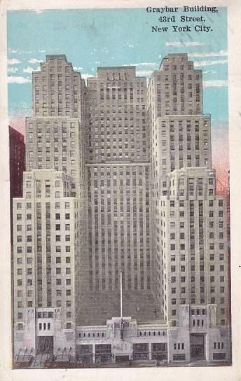 USA - NEW YORK CITY - BUDOVA GRAYBAR - 13-CY73 - Pohlednice
