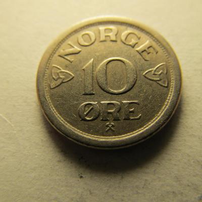 Norsko - 10 Ore 1957