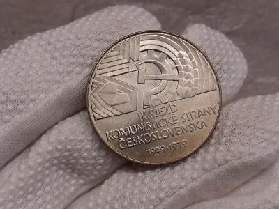 Stříbrná mince 50 Kčs IX. sjezd KSČ 30. výročí 1979