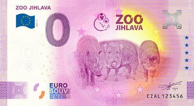 0 Euro Souvenir bankovka ZOO JIHLAVA 2021 [NOVÝ DESIGN]