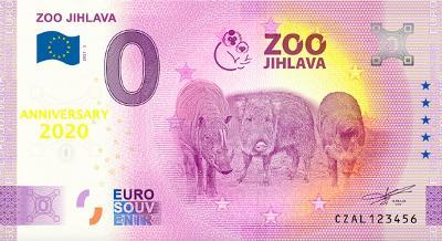 0 Euro Souvenir bankovka ZOO JIHLAVA 2021 [ANNIVERSARY]