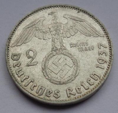 2 marka se svastikou 1937 J !