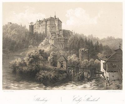 Český Šternberk, Haun, litografie, 1860