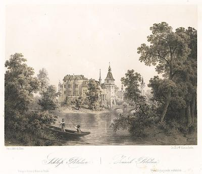 Blatná, Haun, litografie, 1860