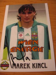 Marek Kincl - Rapid Videň - orig. autogram
