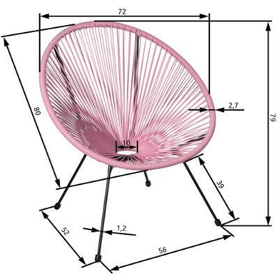 tectake 403304 sada 2 židlí gabriella - fuchsiová