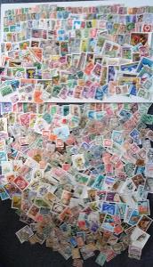 Každá jiná - poštovní známky Maďarska 550ks