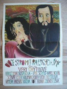 Ovoce stromů rajských jíme (filmový plakát, film ČSSR