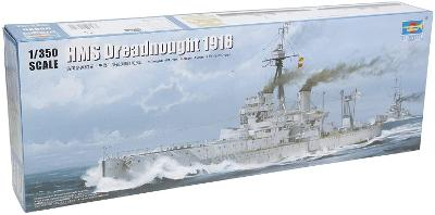 HMS Dreadnought 1918 - 1:350 plastikový model britské bitevní lodě.
