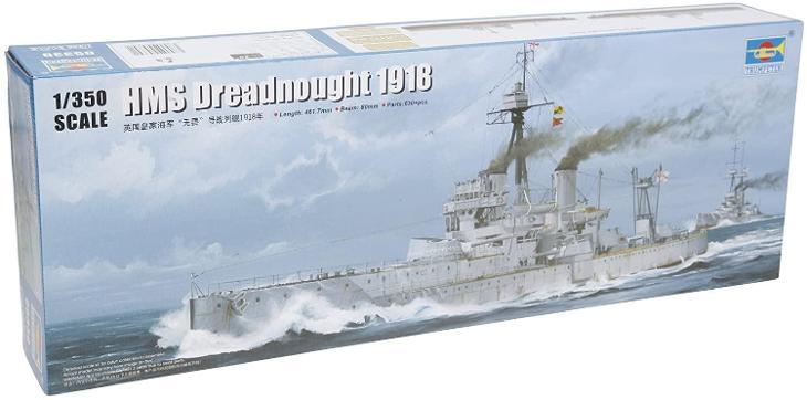 HMS Dreadnought 1918 - 1:350 plastikový model britské bitevní lodě. - Modelářství