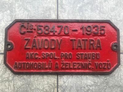 CEDULE NA LOKOMOTIVU TATRA ROK 1935 ORIGINÁL! č. 32