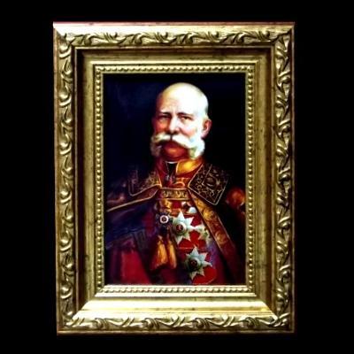 Zlacený Rámeček s Císařem Františkem Josefem I. 210x160mm ,Monarchie