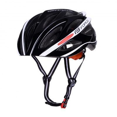 Force BULL černo-bílá cyklistická přilba