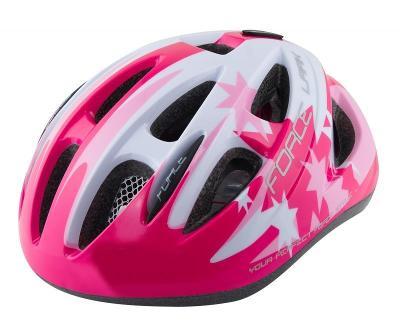 Force LARK růžovo-bílá dětská cyklistická přilba