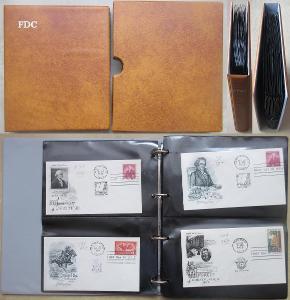 USA - FDC - 1958-1973 - ve žlutém kroužkovém albu s obalem - 60 ks