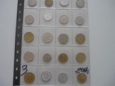 Ruzné mince.č.3.-20.Ks. - 100.-