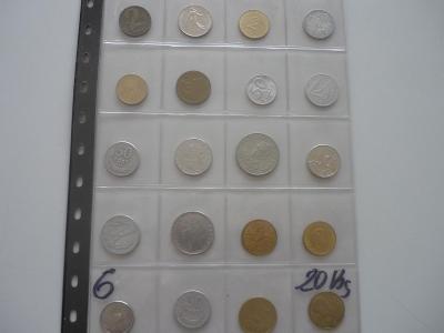 Ruzné mince.č.6.-20.Ks. - 100.-