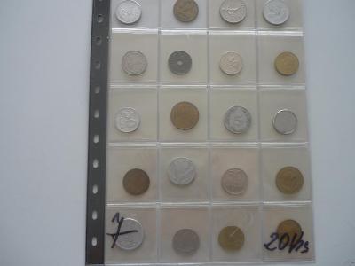 Ruzné mince.č7..-20.Ks. - 100.-