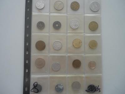 Ruzné mince.č8.-20.Ks. - 100.-
