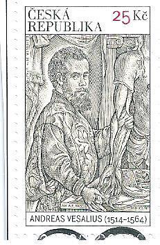 Andreas Vesalius 2014, raž. zn. sm. s raz. FDC, NL. k.č. 823.