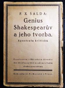 F. X. ŠALDA. Genius Shakespearův a jeho tvorba/JAN Z WOJKOWICZ/PODPIS