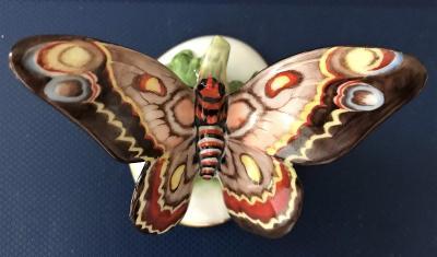 Porcelánová figurka noční motýl Rosenthal Bavaria Art Deco 20. Léta