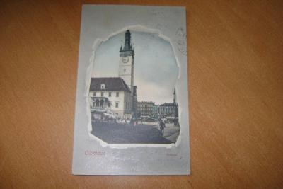 Olomouc - secesní koláž- radnice - 1900