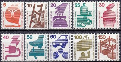 Západní Berlín / West Berlin 1971 Mi.402-411 MNH ** katalog=17€/470Kč