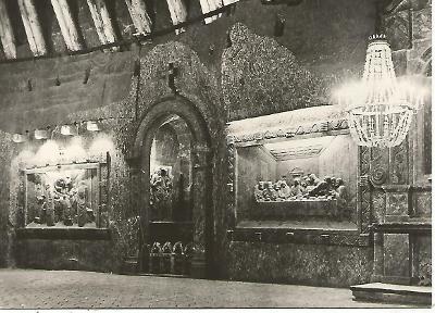 Wieliczka - Fragment kaplicy św. Kingi (Polsko) 3-4697++ čb