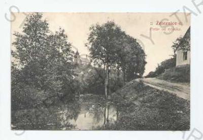 Železnice Jičín partie od rybníka