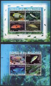 Maledivy-Korálové ryby 2007** Mi.2Klb.4555-4562 / 12 €