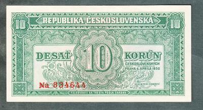 10 kčs 1950 serie Na neperforovana stav 0