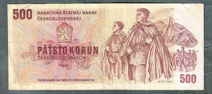 500 kčs 1973 serie U53 - Bankovky