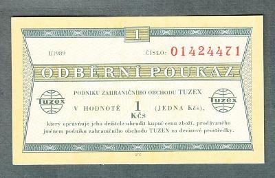 TUZEX BONY 1 kčs 1/1989