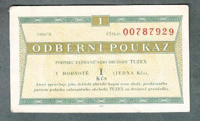 TUZEX BONY 1 kčs 2/1980