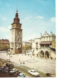 Kraków - Rynek Glowny, Wieza Ratuszowa, fr.Sukiennic (Polsko) 3-4705++