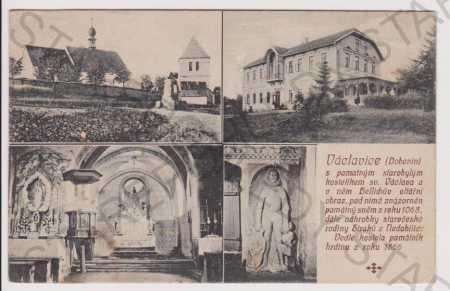 Václavice (Dobenín) - kostel, oltář, restaurace
