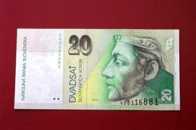 Bankovka Slovensko 20 Korun 2006 Nitra   Luxusní