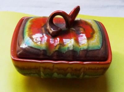 Stará art-deco dóza - keramika