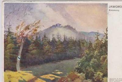 Javorový vrch, barevná, akvarel