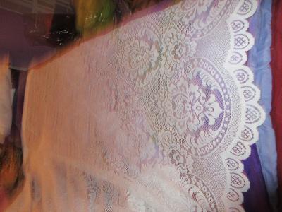 záclona nová  hustý vzor