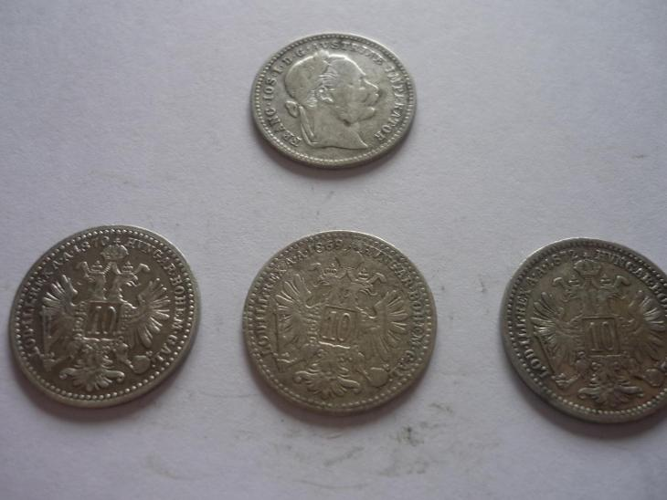 Frant.Jos.I.-10.Kr.-1869-70.72. - 400.- - Numismatika