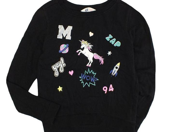 TOP STAV! Bavlněná, obrázková mikinka H&M, vel.146/152 - Oblečení