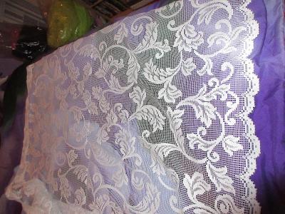záclona nová pěkný hustá vzor listy