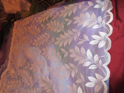 záclona nová jemný vzor listy